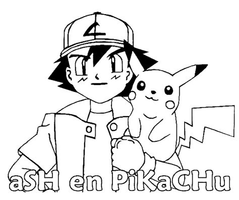 Ash And Pikachu Coloring Pages coloring pages