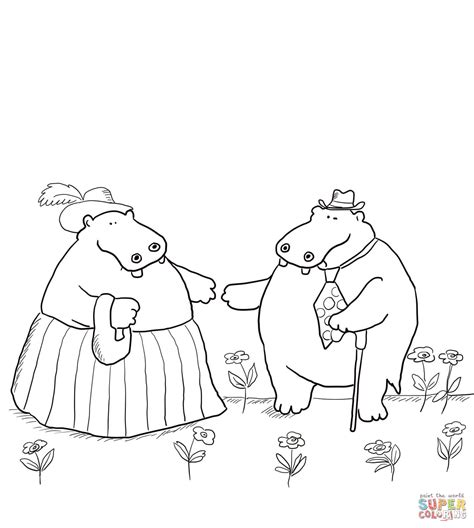 George And Martha Are Best Friends Coloring Page Free And Martha Coloring Page