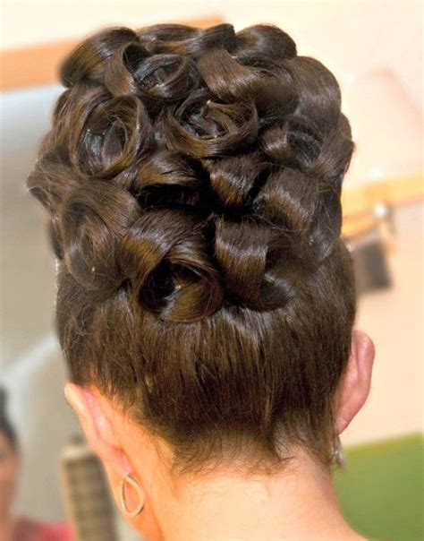 African American Barrel Curls   african american black bride wedding hair natural