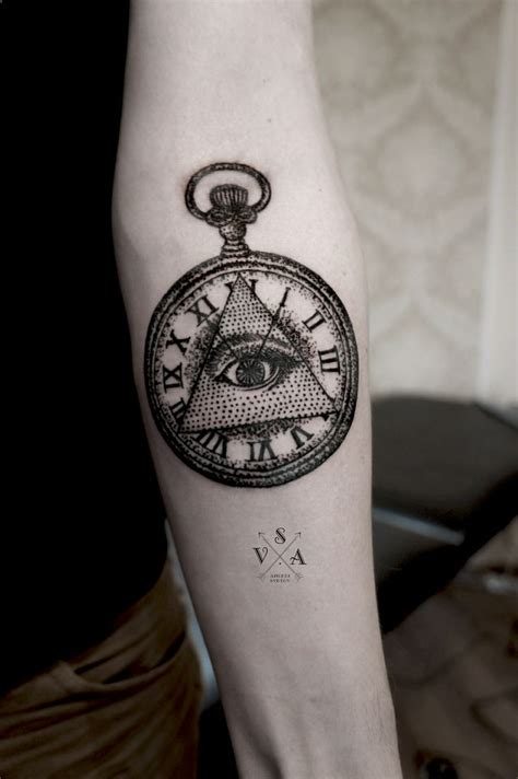 small pocket watch tattoo illuminati illuminati and
