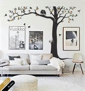 Living Room Owl Decor Tree Wall Decal Nursery Decor Mural Owl Blossoms Tree