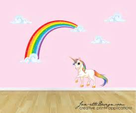 rainbow wall stickers rainbow unicorn wall decal unicorn wall sticker rainbow wall