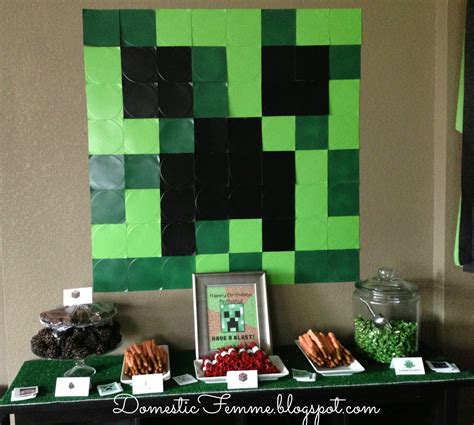 printable minecraft birthday party decorations domestic femme minecraft birthday party