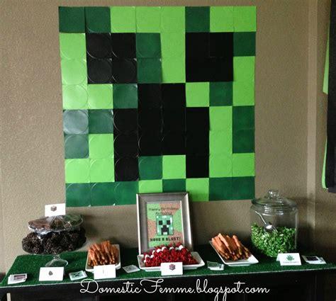 decorations in minecraft domestic femme minecraft birthday