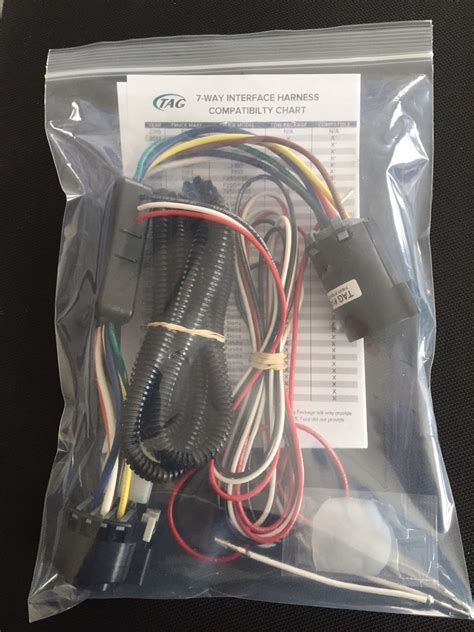 7 way wiring harness wiring diagram with description