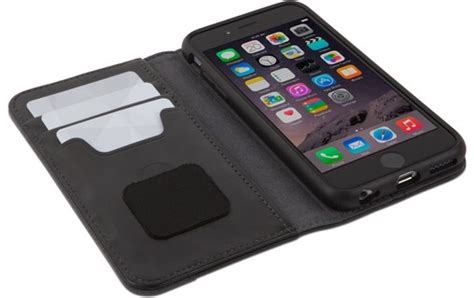 moshi overture noir etui portefeuille pour iphone   etui coque moshi macway