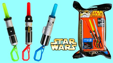 mini light up lightsabers wars collectible lightsabers blind bags