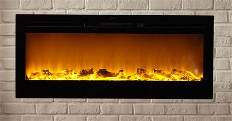 recessed electric fireplaces sideline50 wall recessed electric fireplace in black