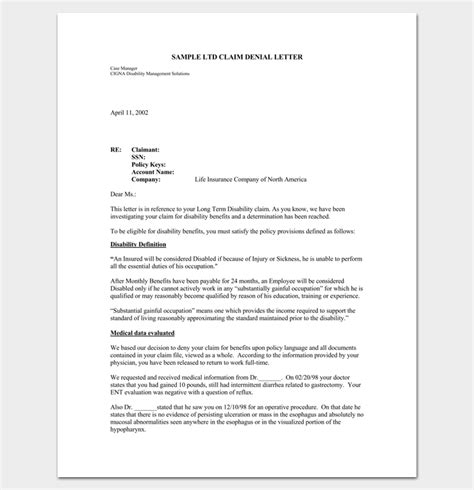 Insurance Claim Letter Exle write an effective claim letter 10 formats sles exles