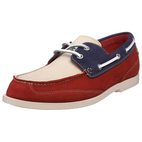 cole haan boat shoes cole haan mens air yacht club canoe boat shoe in red for