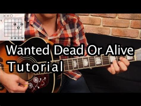 Tutorial Wanted Dead Or Alive   como tocar quot wanted dead or alive quot de bon jovi tutorial