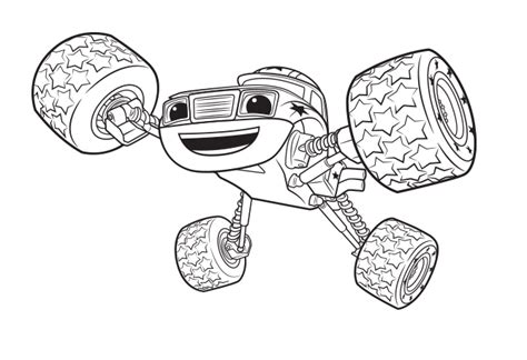 color blaze aj and blaze coloring page coloring pages