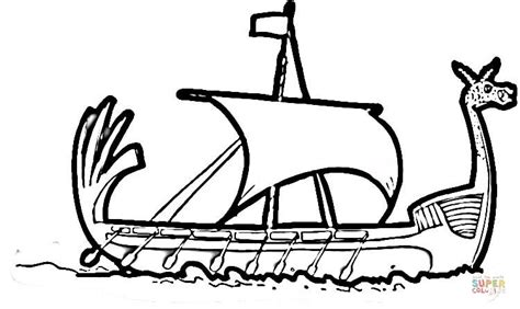 viking ship coloring page free printable coloring pages