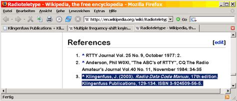 Klingenfuss Radio Data Code Manual Worldwide Hf