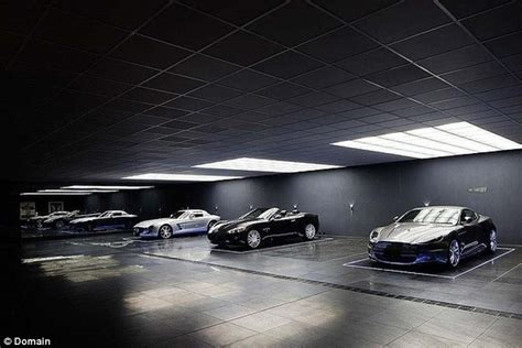 Batcave Garage by Luxury Melbourne Home The Wayne Residence Has Its Own