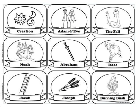 free coloring pages of jesse tree symbols