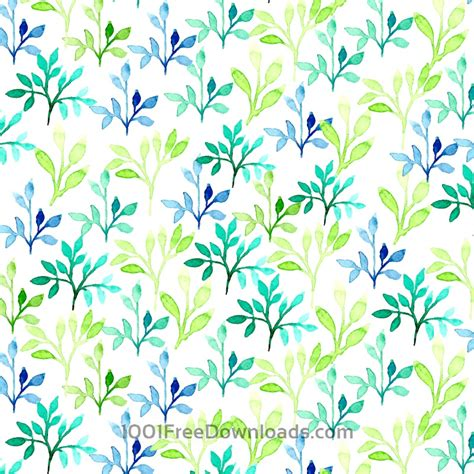 watercolor leaf pattern free vectors watercolor vector pattern with leaves