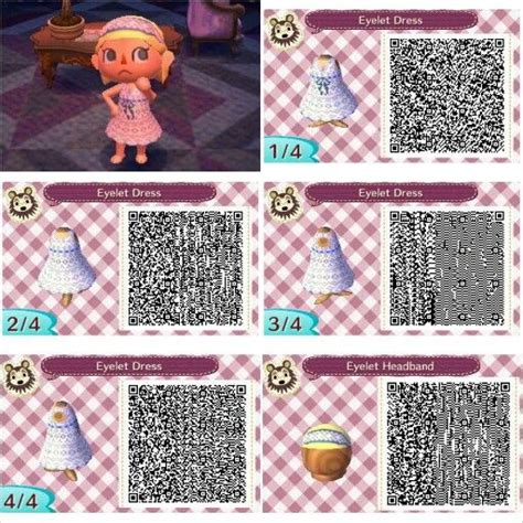 acnl clothes guide eyelet dress and headband design by peanut fashions for