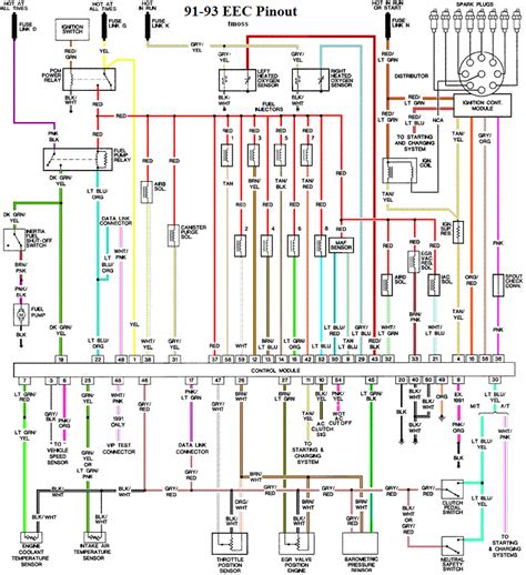 headlight wiring diagram 86 89 mustang headlight free