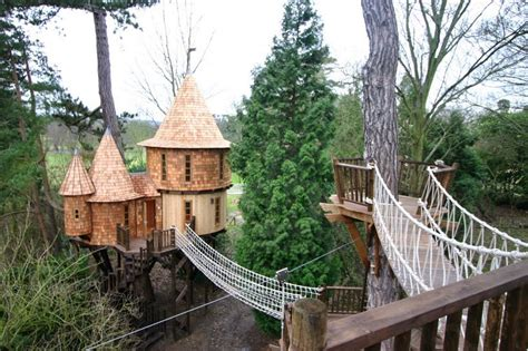 treehouse living this family lives in a tree house that looks like a castle