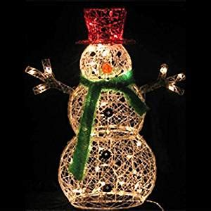 amazon com 32 inch lighted snowman christmas lawn