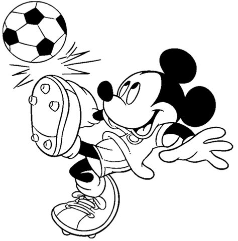 disney football coloring page mickey mouse playing soccer coloring page kids