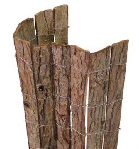 corteccia da giardino frangivista in corteccia naturale cm 300x100h per