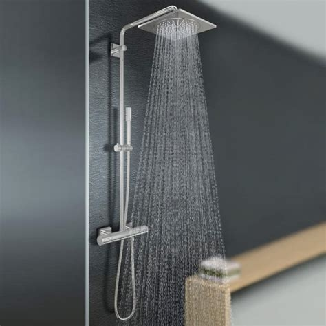 soffioni doccia grohe grohe rainshower f series wall mounted shower system