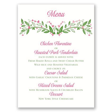Wedding Invitation Menu Cards by Budding With Menu Card Invitations By