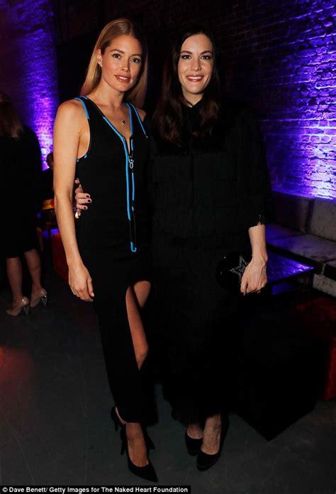 Liv Tylers Clutch by Doutzen Kroes Wears Mullet Dress At Fund Fair