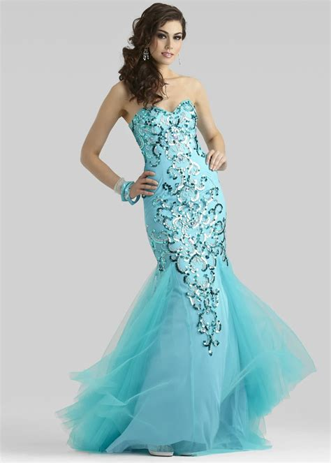 Mermaid Gown blue for mermaid prom dresses 2016 bridal and