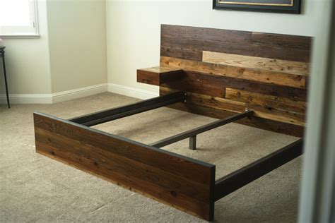 Reclaimed Wood Bunk Beds Rustic Wooden Bed Derektime Design How To Make Wood Bed Frame
