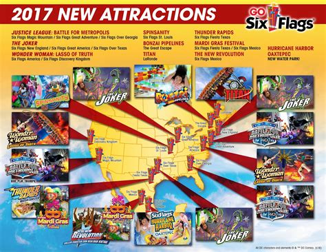 cuponera six flags 2017 theme park overload six flags parks 2017 new attractions