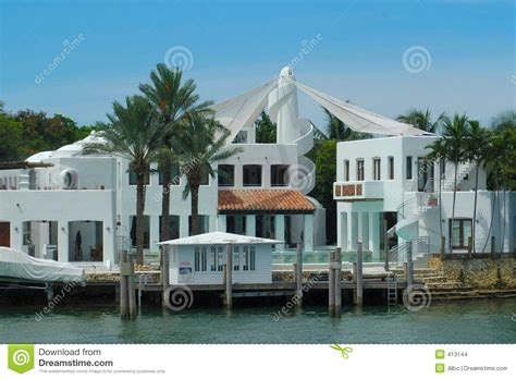 Hibiscus Island Home Miami Design District Luxurious Mansion Stock Images Image 413144