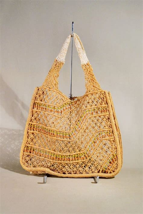 Macrame Thread Bags - 11 best vintage macrame bags images on macrame