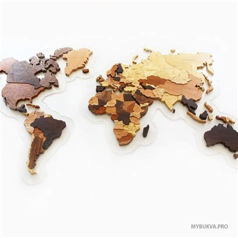 Map Of The World Wooden by Wooden World Map