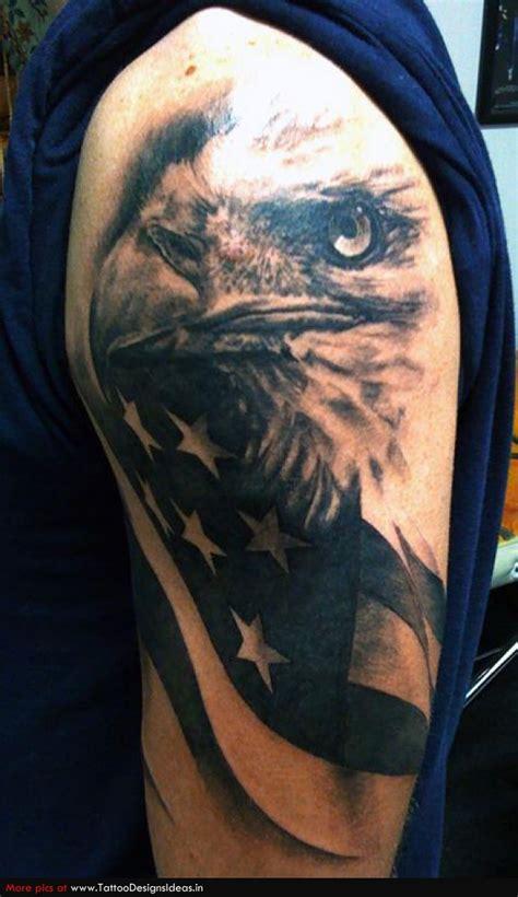 eagle quarter sleeve tattoo 36 patriotic eagle tattoos