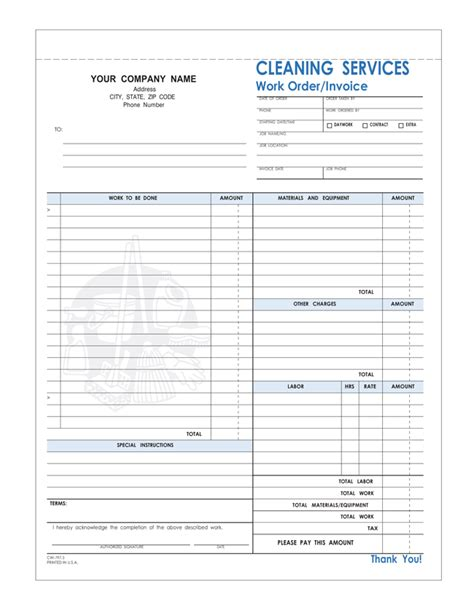 Free Printable Cleaning Service Invoice Templates 10 Different Formats Housekeeping Invoice Template