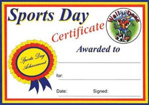 sports day certificate template student council certificate free word templates