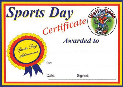 sports day certificate template sports day certificates a4