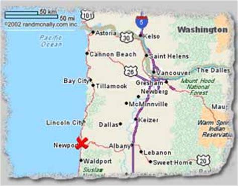 mapquest oregon coast newport oregon map laminatoff