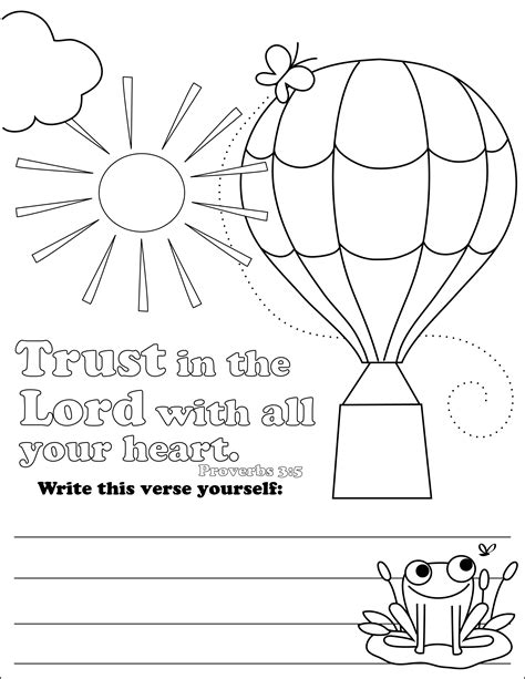 worry trust god coloring page kids church