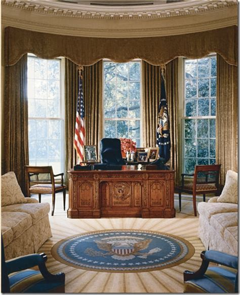oval office drapes cote de texas the oval office before after