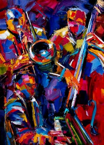 jazz artists biography abstract jazz trio music oil painting art by debra hurd