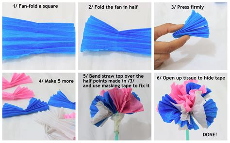 How To Make A Flower Out Of Paper Easy - easy tissue paper flowers surely simple
