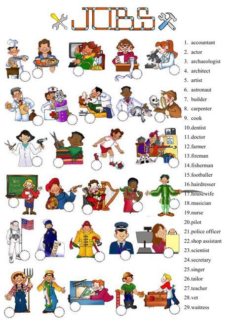 free printable english worksheets occupations jobs interactive worksheet