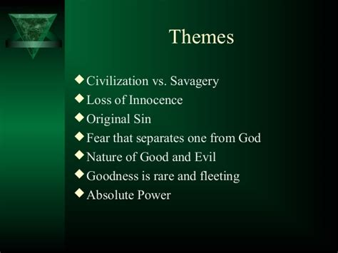 themes of power in lord of the flies lord of the flies introduction