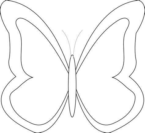 Butterflies Images Outline by Butterfly Outline Clip At Clker Vector Clip Royalty Free Domain