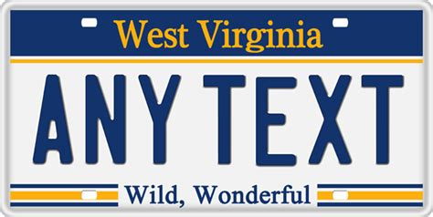 Wv Vanity Plates by State Plates Custom Made Plates National Flags Gator