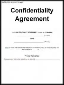 confidentiality agreement template free formats excel word